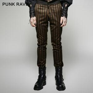 Punk-Rave-Gothic-strip-rock-gothic-men-pants-Vintage-clothing-steampunk-trousers