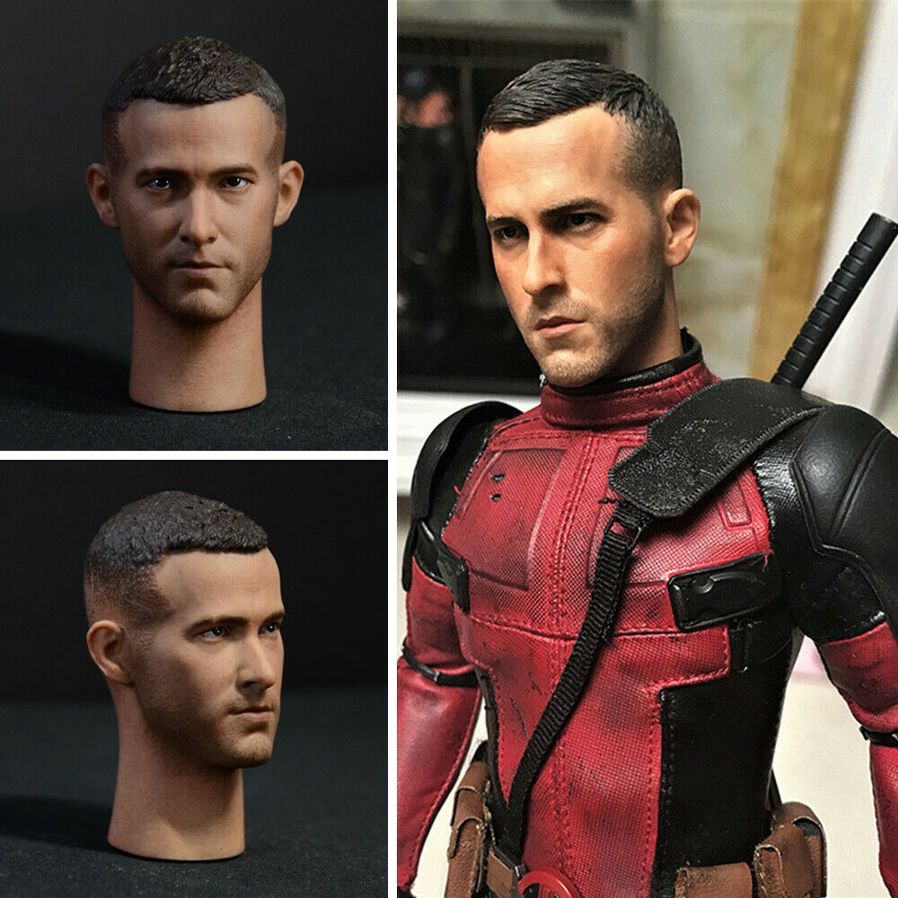 Ryan Reynolds firate-rate 1 6 Escala Escultura de cabeza Deadpool para 12  Figura De Acción