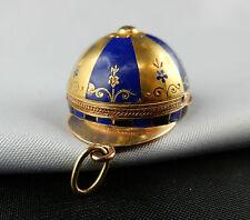 GOLD EMAIL UHR 18k vom EDELJUWELIER K.F. um 1915