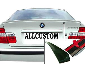 LAME COFFRE SPOILER LEVRE AILERON pour BMW E46 SERIE 3 98-06 320d 330d 330i M3 M