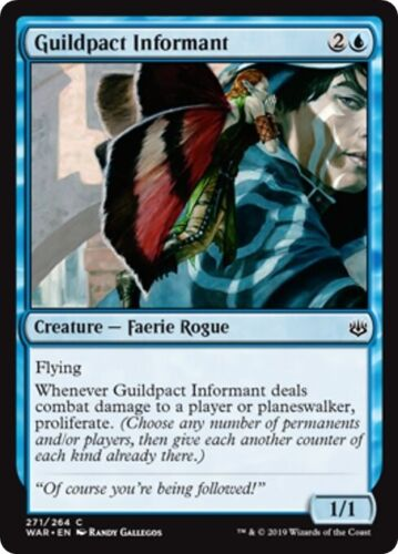 4 GUILDPACT INFORMANT ~mtg NM-M War of The Spark Com x4 #271//264