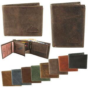 f0c3dc4c7c95a Das Bild wird geladen Herren-Geldboerse-Geldbeutel-Portemonnaie-echt-Leder -Hochformat-Querformat-