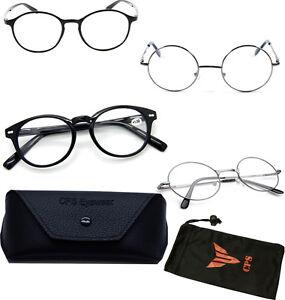Silver-Round-Oval-Spring-Hinge-John-Lenon-Harry-Potter-Reading-Glasses-Readers