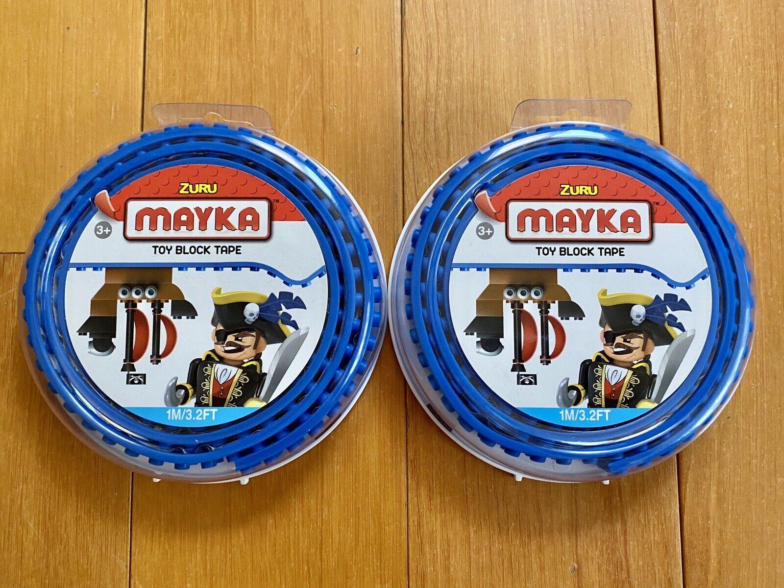 Dark Blue Zuru Mayka Tape 1M 3.2FT 2 Stud Toy building Block parts tape