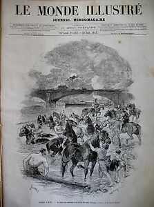 PARIS-QUAI-D-039-ORSAY-BAIN-DES-CHEVAUX-EGYPTE-BOMBARDEMENT-ALEXANDRIE-GRAVURES-1882