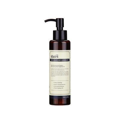 Klairs Gentle Black Deep Cleansing Oil 150ml / mild cleansing deep cleanse pores