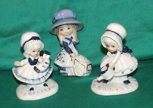 Set-3-Vintage-ornaments-gardening-girls-VINTAGE-porcelain-ornaments-white-blue