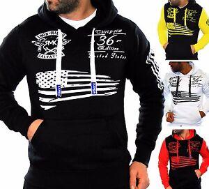 Uomo-Pullover-Giacca-Maglione-Camicia-Lunga-Sweater-Hoodie-Cappuccio-VINTAGE-USA-US