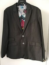 Robert Graham Men's Woven Outerwear Charcoal Gray  Coat  Jacket NWT Tuatara L 42
