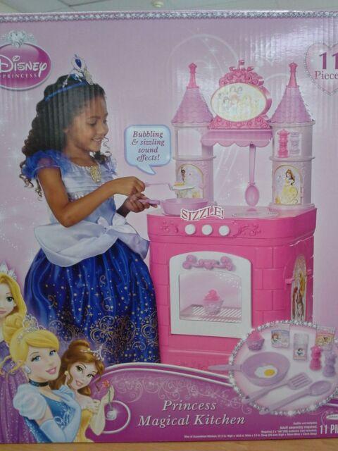 PRINCESS MAGICAL PLAY KITCHEN DISNEY SOUND EFFECT 11 ACCESSORIES GIRLS 3+