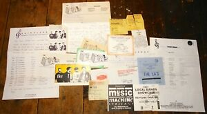 THE-LA-039-S-A-BUNDLE-OF-RARE-EARLY-1987-ITEMS-TICKETS-SIGNED-POSTCARD-ETC-OASIS