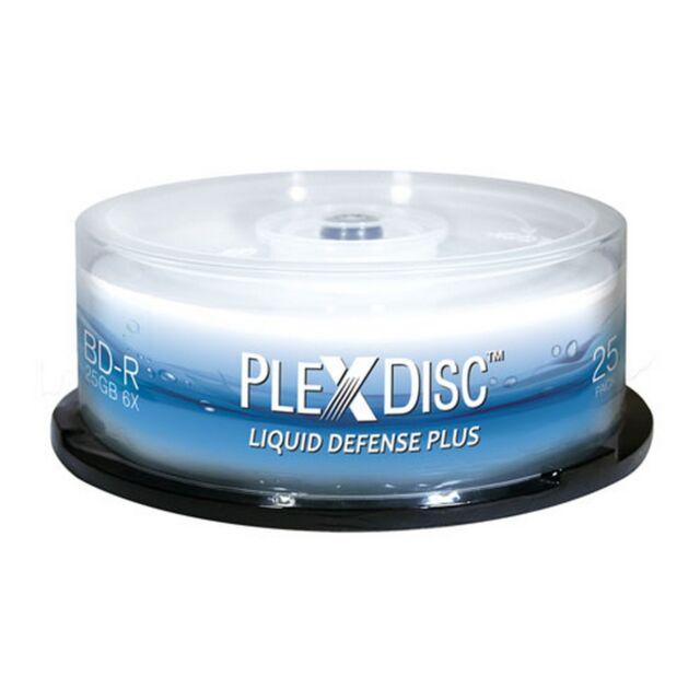 PlexDisc BD-R liquid defense plus, 25GB, 6x, nanobeschichted, hochglanz, 25 Stk.