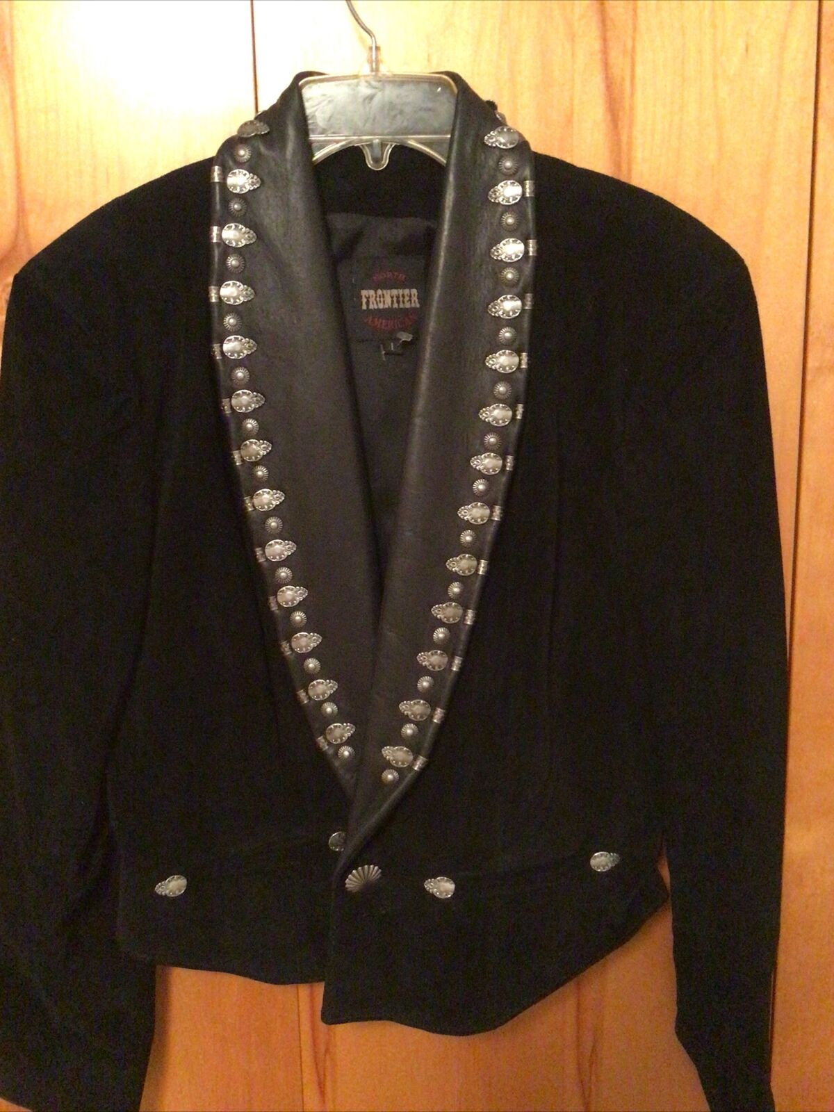 Northern Frontier Black Leather Studded jacket L