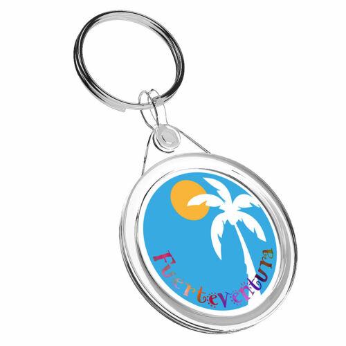 1 x Fuerteventura Spain Sun Keyring IR02 Mum Dad Kids Birthday Gift #9180