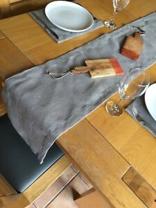 Fully Hemmed 35cm Wide Hessian Table Runner Sold By The Metre