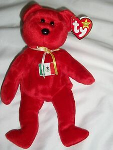 c0f5102631f AH Ty Original Beanie Baby Babies Osito Mexico Red Bear With Tag