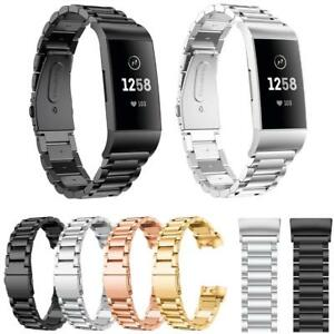 Replacement-Link-Metal-Strap-for-Fitbit-Charge-3-Secure-Band-Metal-Buckle