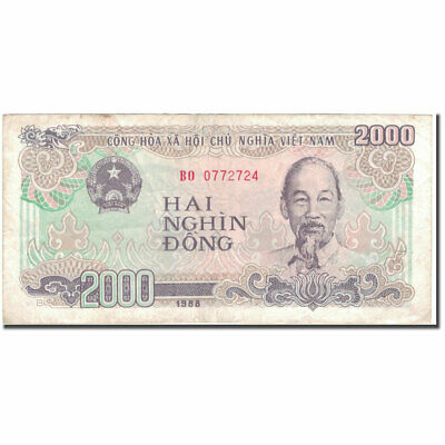 Products Are Sold Without Limitations #595475 Vf Vietnam 1988 30-35 Km:107a Banknote 2000 Dng