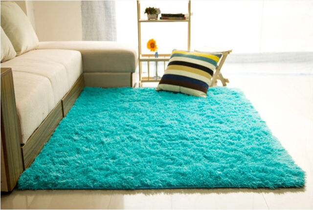 Large Fluffy Rugs Anti Skid Shaggy Area Rug Dining Room Home Bedroom Floor  Mat
