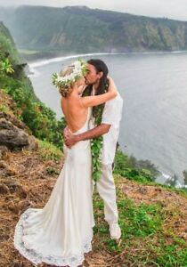 Simple-Elegant-Backless-Satin-Wedding-Gown-Size-2
