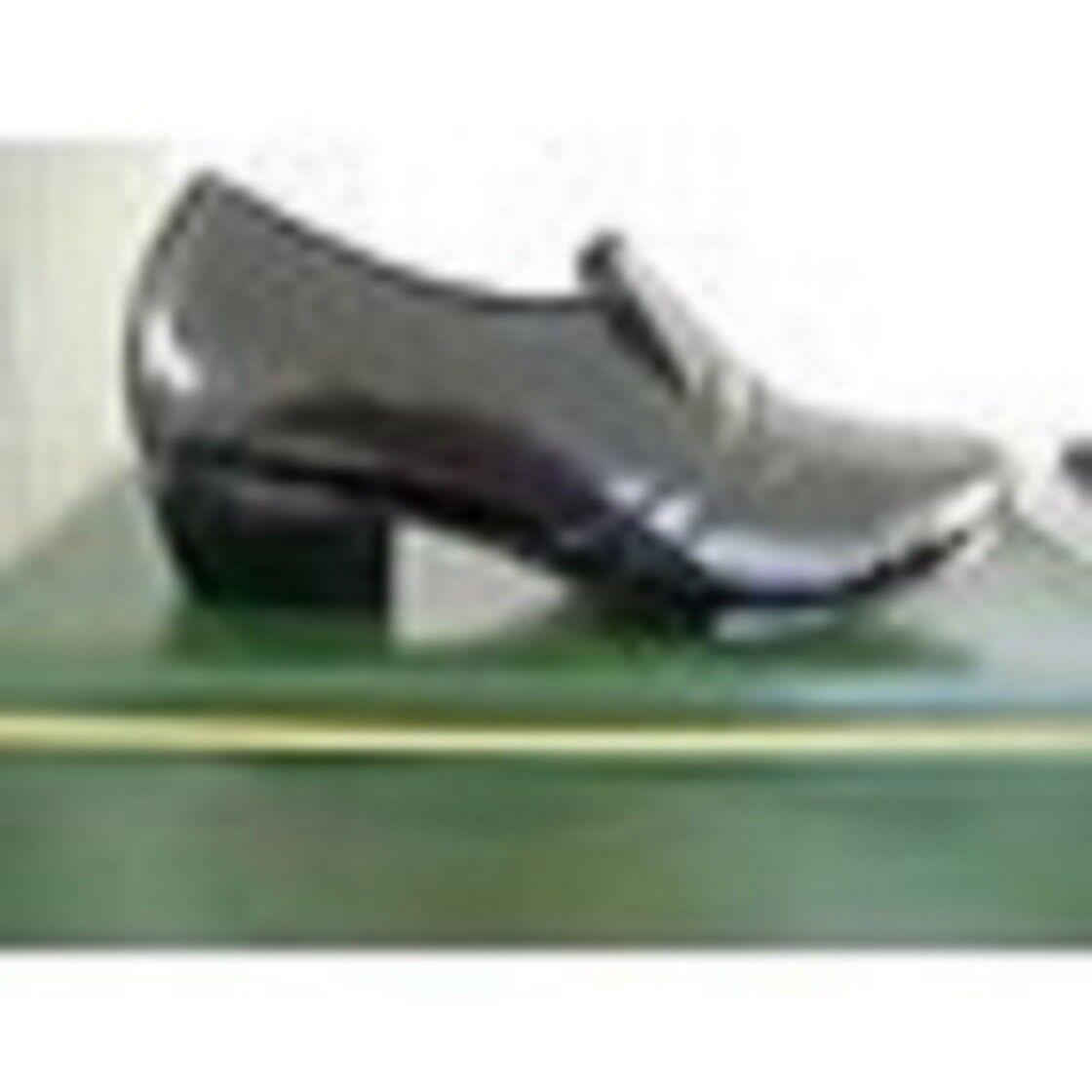D'Italo 6263 Mens Black Leather Slip Cuban Heel Slip Leather 420737