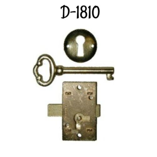 Furniture Lock Economy Flush Mount Lock Set Brass Plated Antique Style