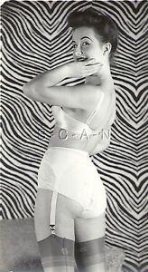 Original Vintage 1940s-50s Nude RP- Brunette- Hairdo- In