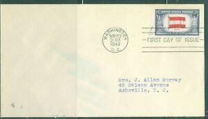 US-FDC-919 OVER RUN COUNTRIES AUSTRIA cancel.WASHINGTON DC.NOV 23-1943 ADDR
