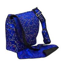 Green Blue Pink Flower Japanese Asian Purse Handbag Baby Shower Gift Diaper Bag