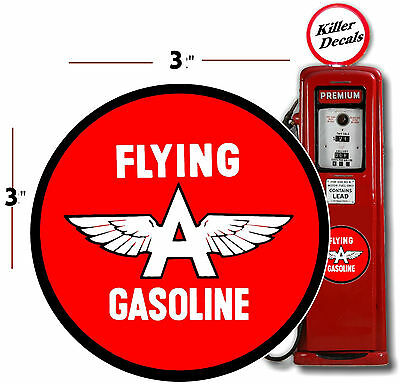 "SIGN WALL ART STICKER 24/"" MUSGO GASOLINE DECAL GAS AND OIL FOR GAS PUMP"
