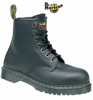 Dr Martens Airwair Icon DM 6601 SB black 7 eyelet safety boot CLEARANCE 6 & 7