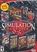 Simulation 9 Game Pack - Hunting, Remington Africa, Alaska, Ac-130, Pc Game