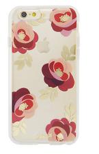 Sonix Clear Coat Rosalie Red Flower Design Clear Back Case iPhone 6/6s Plus CR