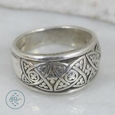 Sterling Silver | Floral Celtic Knot Cigar Band 7.7g | Ring (8) MX2243