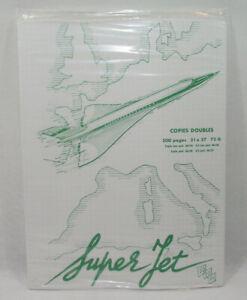 SUPER JET CONCORDE AIR FRANCE Lot copies doubles NEUF vintage 70's SO.CO.PI