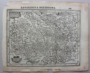 Kupferstich-Karte-Lothringen-034-Lotharingia-Meridiona-034-um-1650-Frankreich-sf