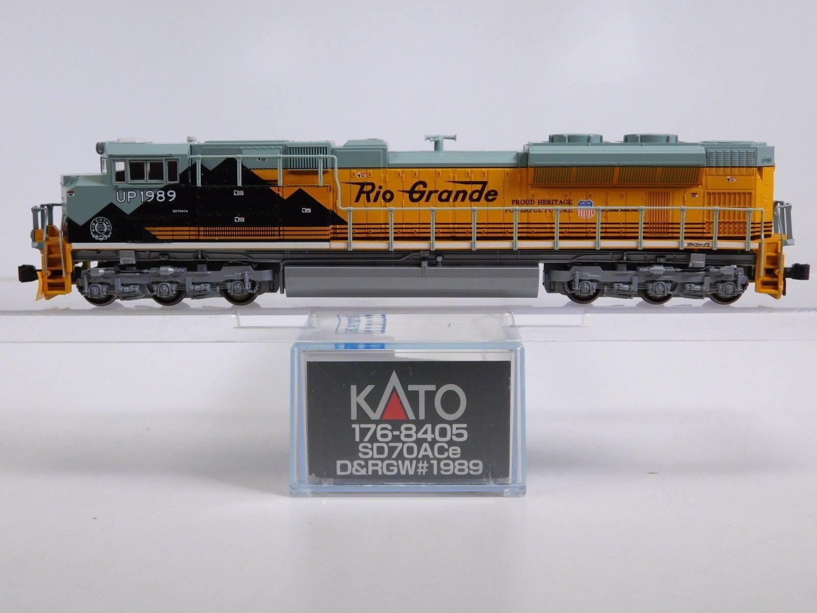 Nuovo Kato N Scale D&RGW SD70Ace UP Denver Rio Grande Western Locomotive 176-8405