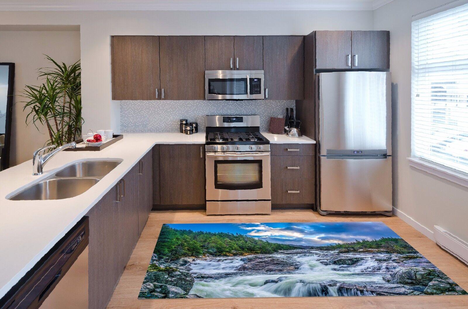 3D River View 129 Kitchen Mat Floor Murals Wall Print Wall Deco AJ WALLPAPER UK