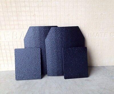 Body Armor Plates, Front/Back/Sides, AR500 Steel,Line-X Spall/Frag Coating LVL3