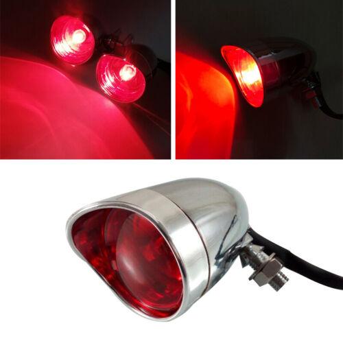 Motorcycle Bullet Rear Stop Tail Brake Light Cafe Racer Bobber Chopper 3 Wires