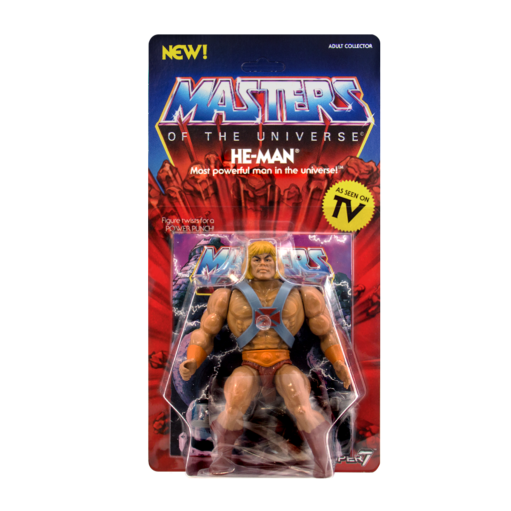 HE-MAN by Super 7 Masters of the Universe MOTU VINTAGE CLASSIC Skeletor