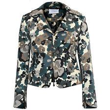 AKRIS PUNTO floral camo wool blazer flower camouflage jacket 2-US/ 34-FR/ 32-D