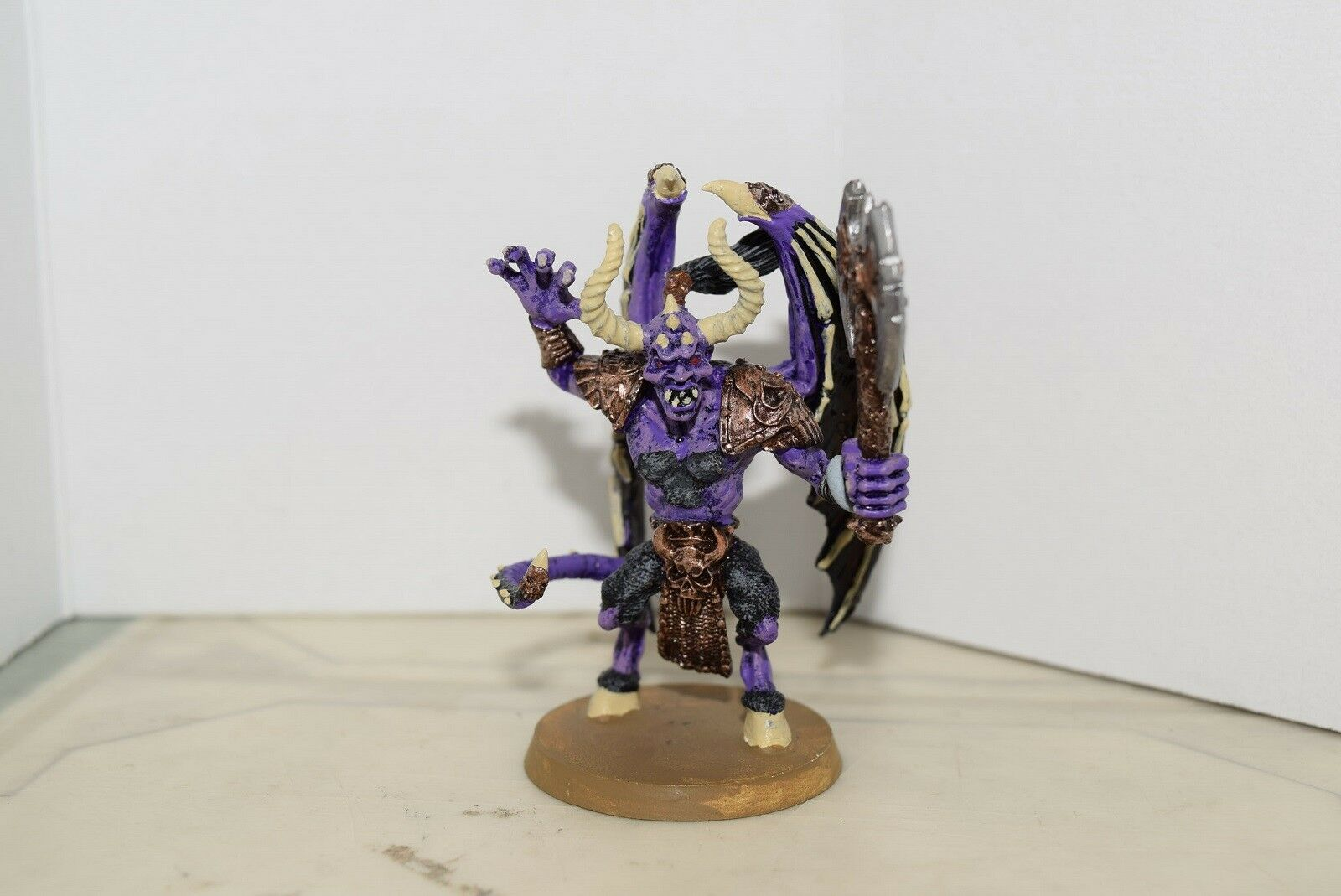 Warhammer Chaos Daemon Prince with Wings & Axe (OOP, 40k Chaos Daemon Prince)
