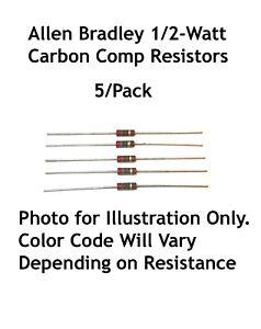 1//2 Watt Carbon Comp Resistors 10 Pack 51 ohm