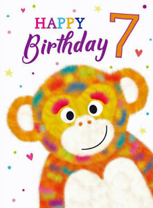Image Is Loading 7th Birthday Card Funny Monkey For Boy Or