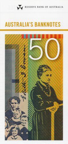 Old Generation RBA pamphlet $50 Dollars 2016 Gen Prefix x 1 UNC Banknote
