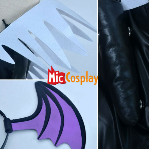 Darkstalkers Morrigan Aensland Cosplay Costume with Wings Whole Set Outfit