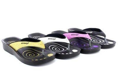 Ehrgeizig Aerosoft Damen Orthopädische Glitter Zehensteg Sandalen Hohe QualitäT Und Preiswert