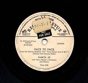 DAMITA-JO-1953-RCA-Victor-20-5570-Promo-Face-To-Face-Sadie-Thompson-s-Song
