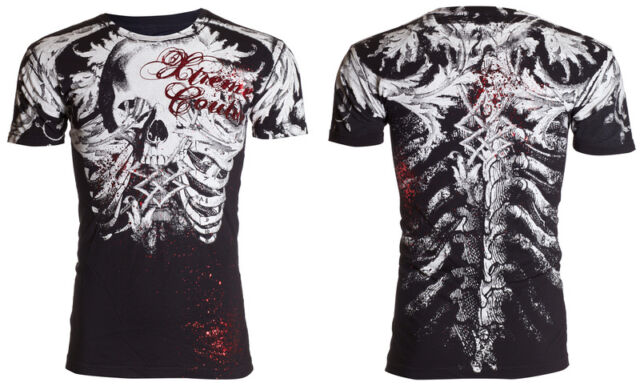Xtreme Couture AFFLICTION Men T-Shirt PERSIMMON Skull Tattoo Biker UFC S-4XL $40